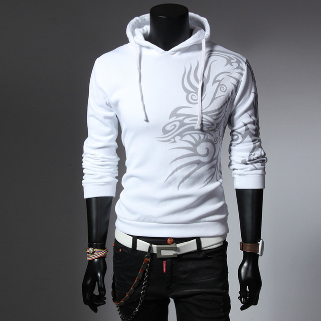 25a0db8d90ff Fashion Style Hot Sale Male Hoodies Special Prints Casual Wear Slim Looking  Men Sweatershirts Comfortable Four Colors Cool Cozy