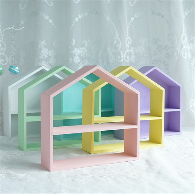 Verwonderlijk Houten Magazijnstellingen Kinderkamer Muur Planken DIY Originele SV-88