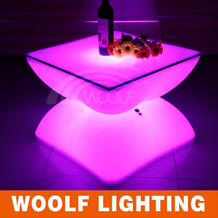 modern life plastic led drum shaped center table(without glass)-in ...