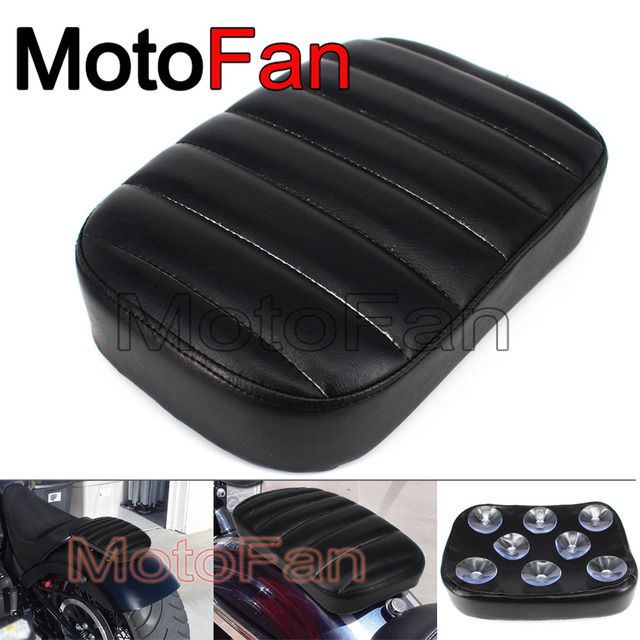Us 24 29 10 Off Leather Motorcycle Seat Cushion Motorbike Suction Cup Pillion Pad Best For Long Rrides Harley Davidson Custom Cruiser Chopper In