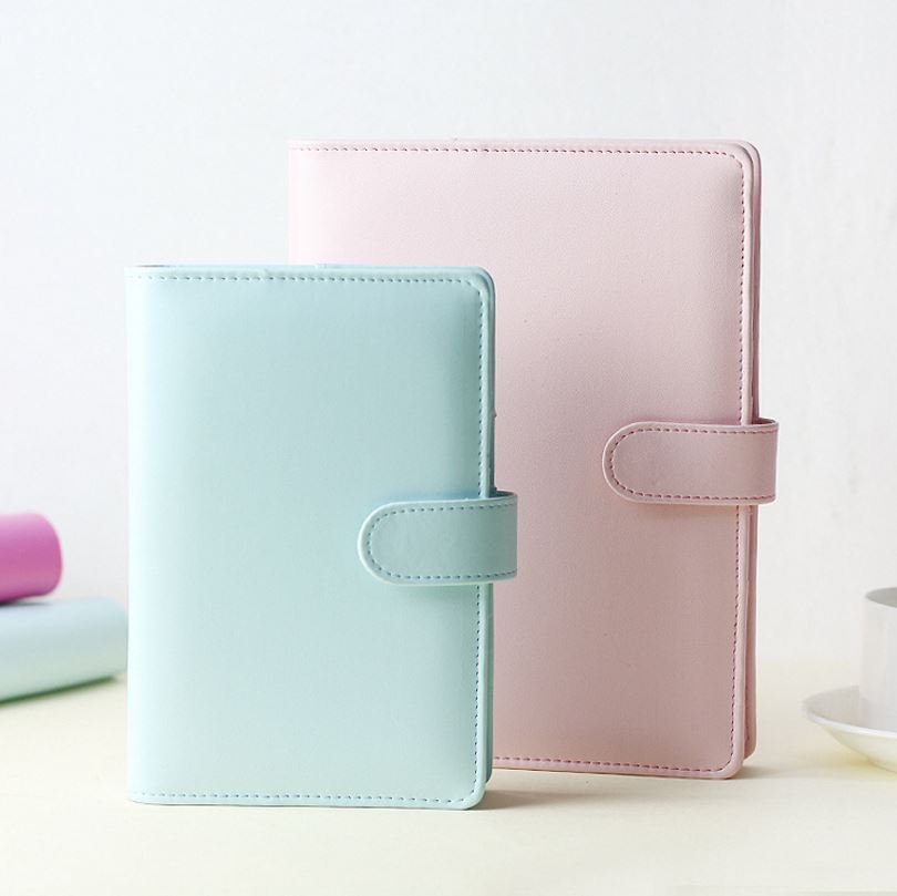 Creative A5 A6 Leather Hard Cover For Notebook 6 Holes