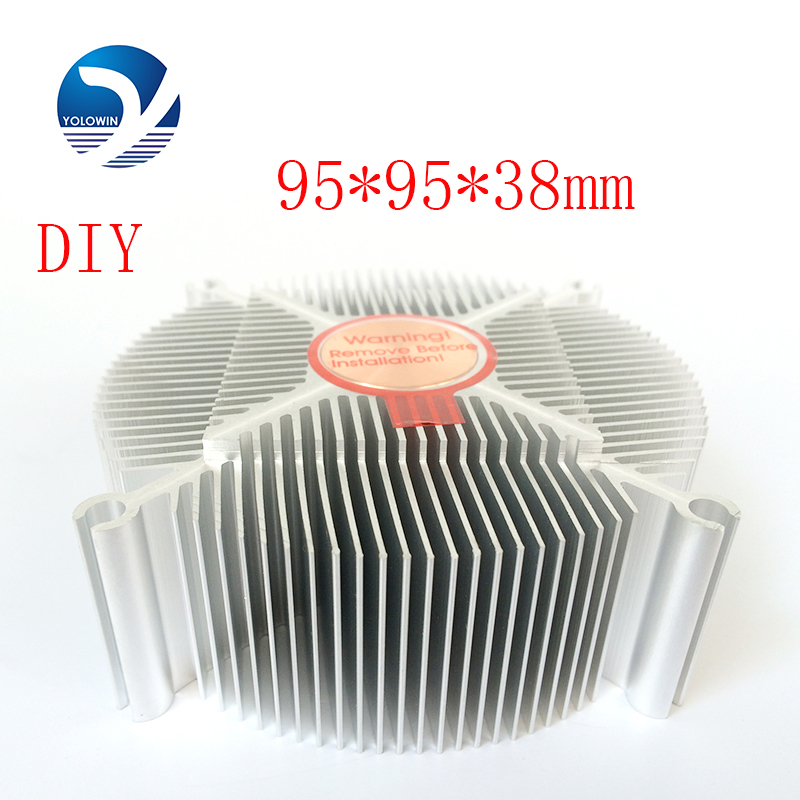 цена на Professional Electronic Heatsink 95*95*38mm Aluminium Heat Sink Radiator For LED Light Cooler Processor Cool Accessory YL-0010