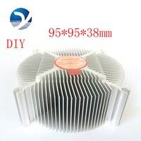 Professional Electronic Heatsink 95*95*38mm Aluminium Heat Sink Radiator For LED Light Cooler Processor Cool Accessory YL 0010