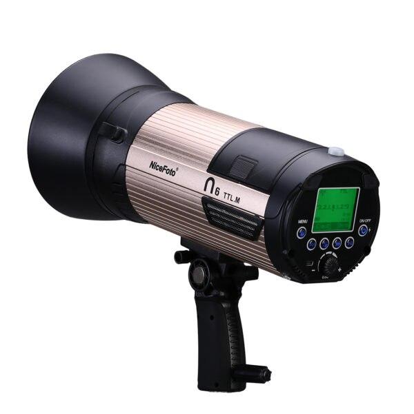 NiceFoto N6 600Ws GN89 HSS 1/8000 s Flash Light con 6600 mah Batteria ETTL per Canon e i -TTL per Nikon 2.5 s di Ricarica Veloce