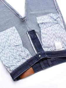 Image 4 - Jantour Brand Jeans Men High Stretch Black Blue Slim Straight Denim Business Pants mens, Cotton And Spandex Plus Size 40 42 44