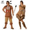 Индийские Женщины Покахонтас Взрослых Fancy Dress Хеллоуин Костюм Косплей Аборигены Косплей Костюм