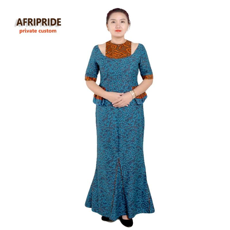 2019 أفريقيا فساتين للنساء الكلاسيكية الأنيقة نمط القطن الأفارقة الملابس زائد حجم أنقرة طباعة الساخن بيع النساء اللباس A722531