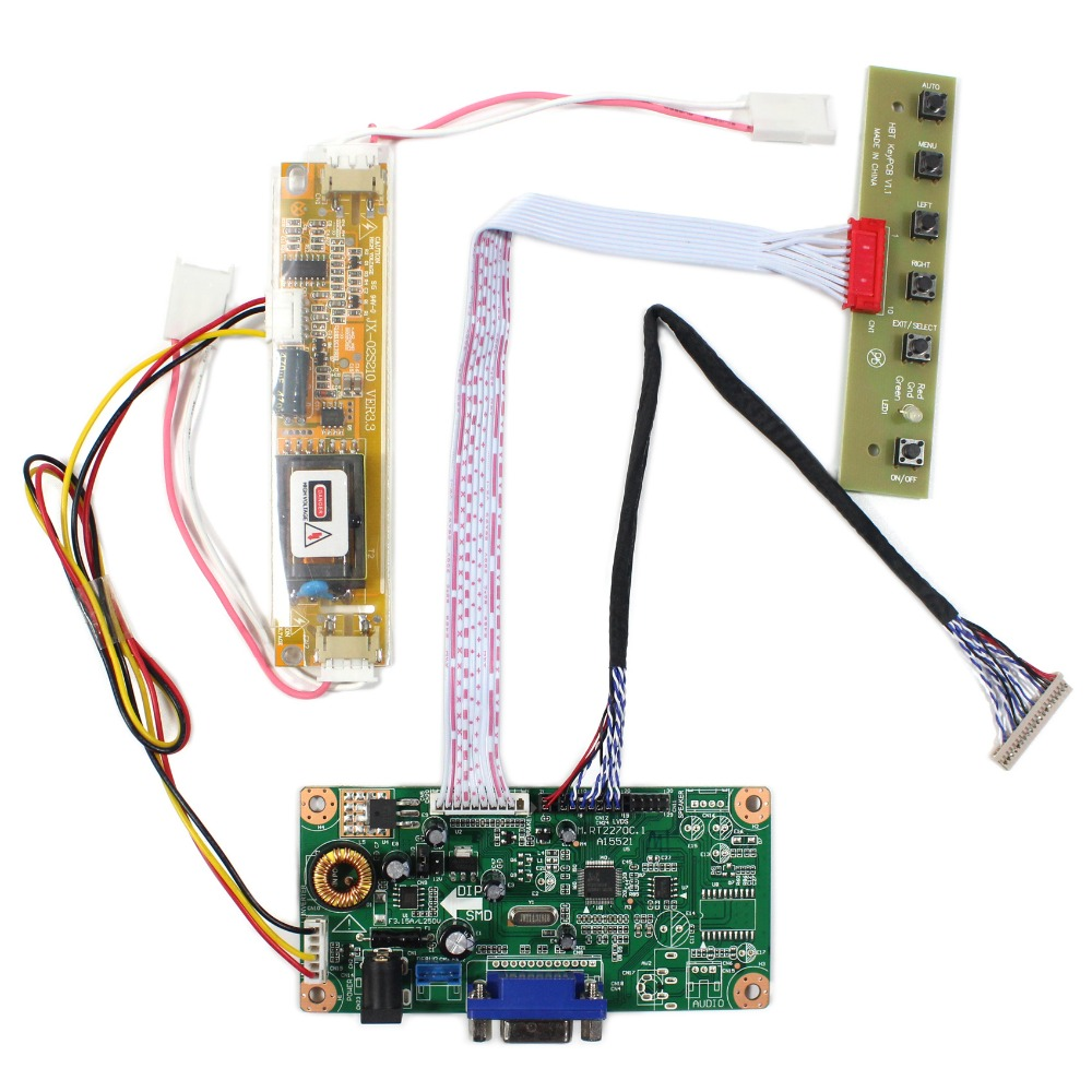 LCD Controller Board With VGA Source Work For 12.3 LQ123K1LG03 1280x480 LCD Screen lcd board 52nn