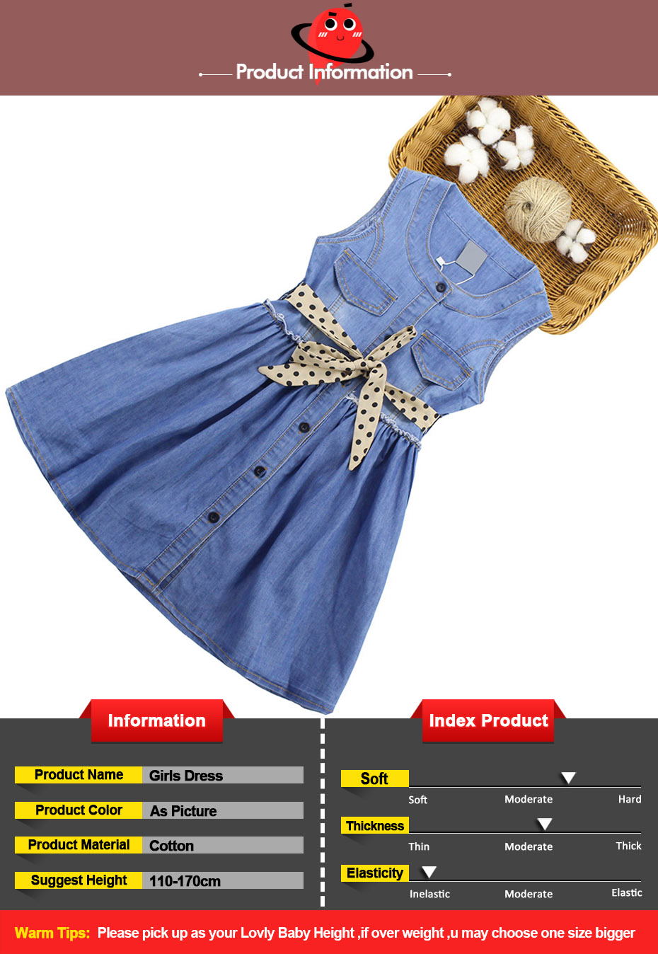 HTB1PWgaQNnaK1RjSZFBq6AW7VXay - Summer Dress For Girls Sleeveless Denim Dress Girl Big Girls Party Dress Kids Summer Clothes For Kids Girl 6 8 10 12 13 14 Year