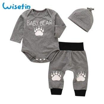 5eb002841d8 Медведь комплект детской одежды хлопок Одежда для новорожденных малышей