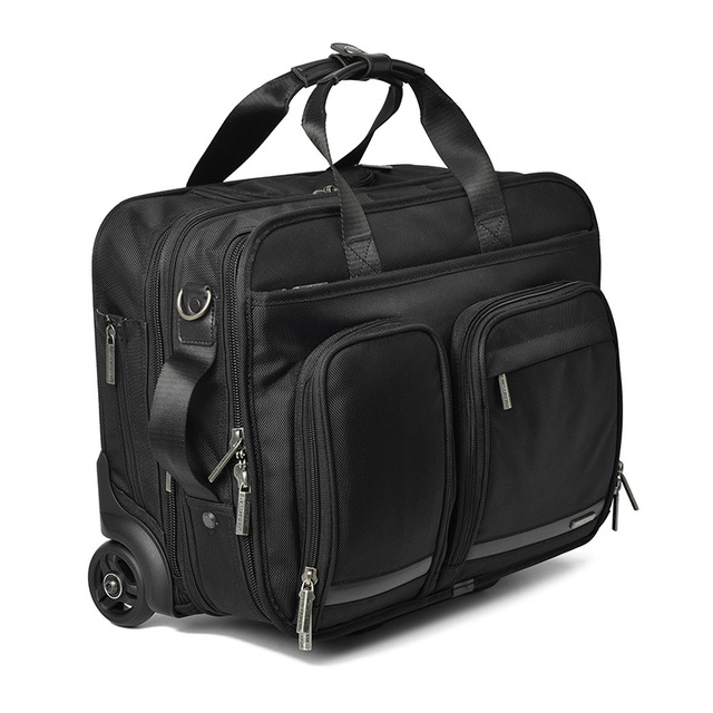 BeaSumore Business Men Rolling Luggage 18 Inch Hand Trolley Multifunction Carry On password Suitcase Wheels Laptop Travel Bag