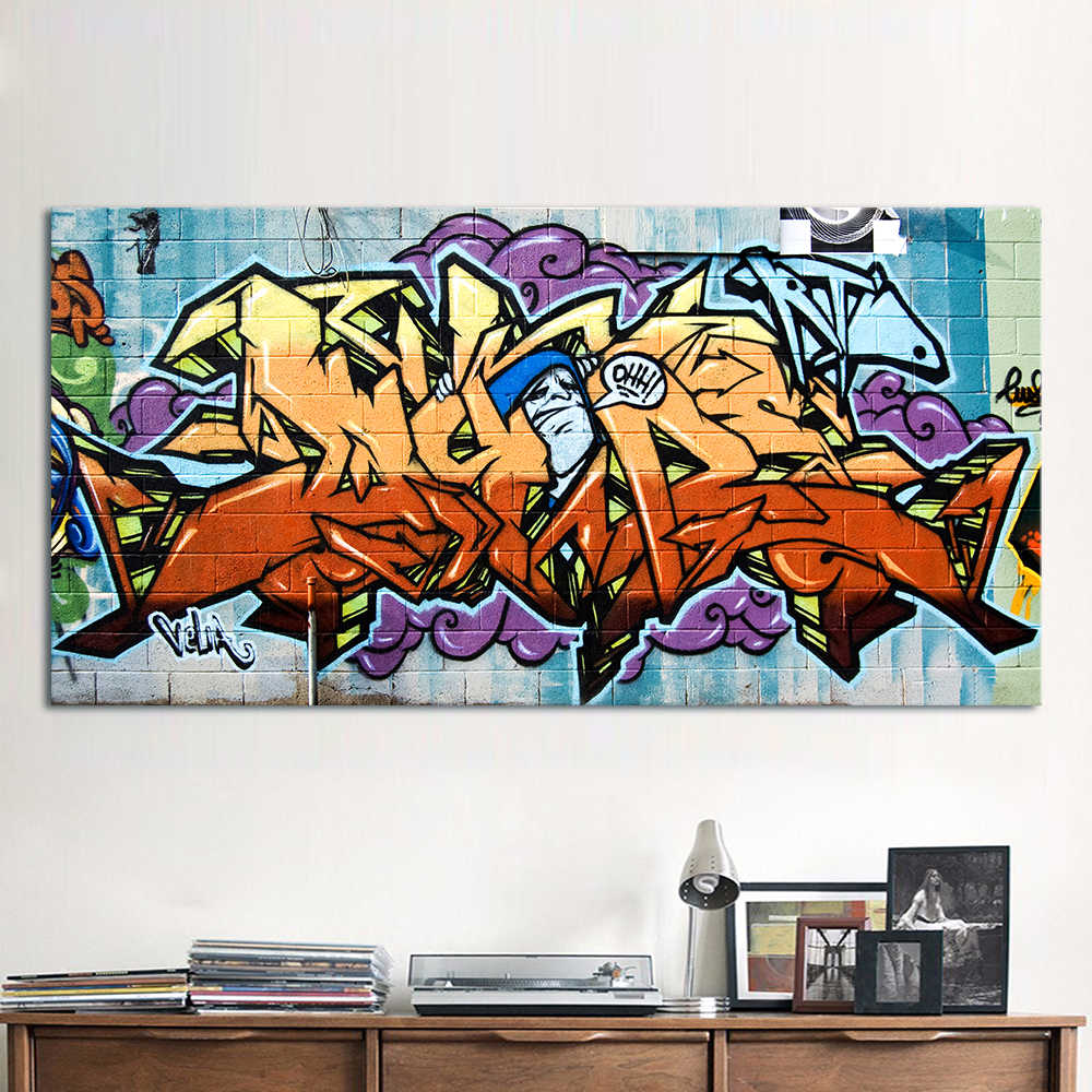 HDARTISAN Wildstyle Graffiti Painting Street Canvas Art Wall Pictures For Living Room Home Decor Printed No Frame