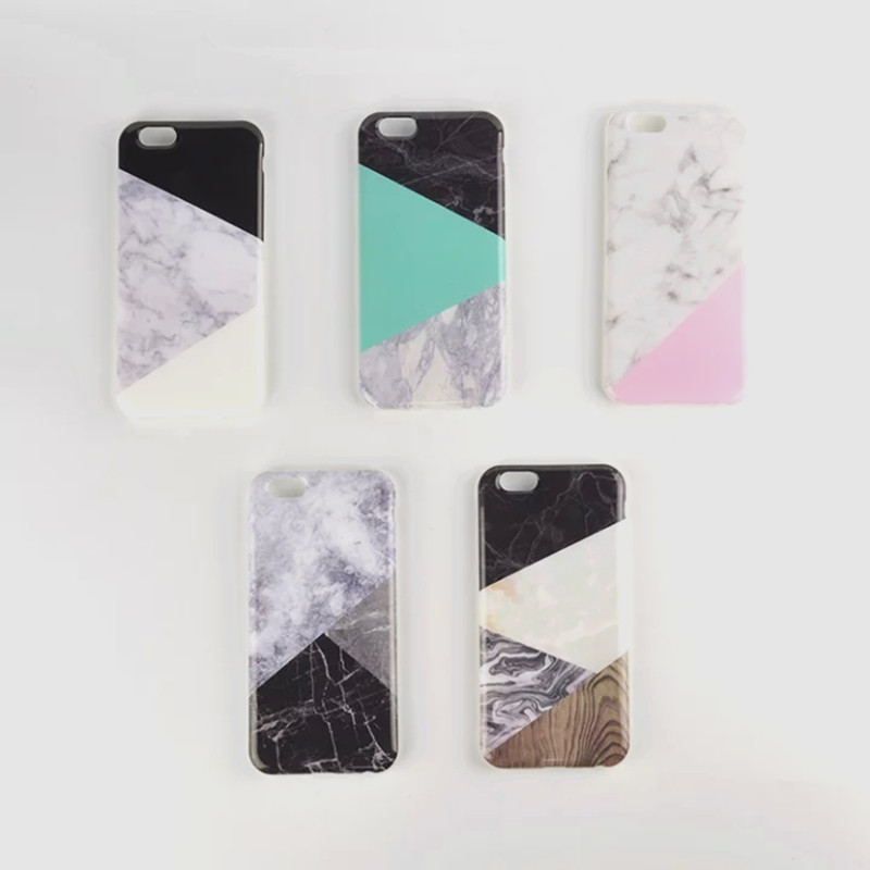 Newest Arrivals Fashion Geometric Mosaic Pattern Marble Phone Case Cover For iPhone 6 6S/6Plus 6SPlus Phone Cases