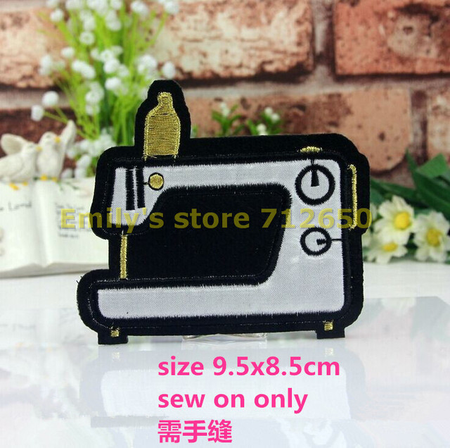 New Arrival Sew On 40 Pcs Sewing Machine Embroidered Patches Motif Adorable Sewing Machine For Patches