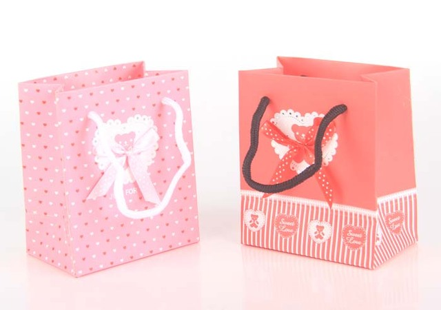 11 5x7x13 5 Cm Wedding Paper Gift Bag With Handle Party Favor Bags