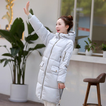 2016The Latest Winter Women Pure Color Hooded Cotton-Padded Clothes Zipper Keep Warm Hooded Jacket Big Yards Slim S08 Fashion