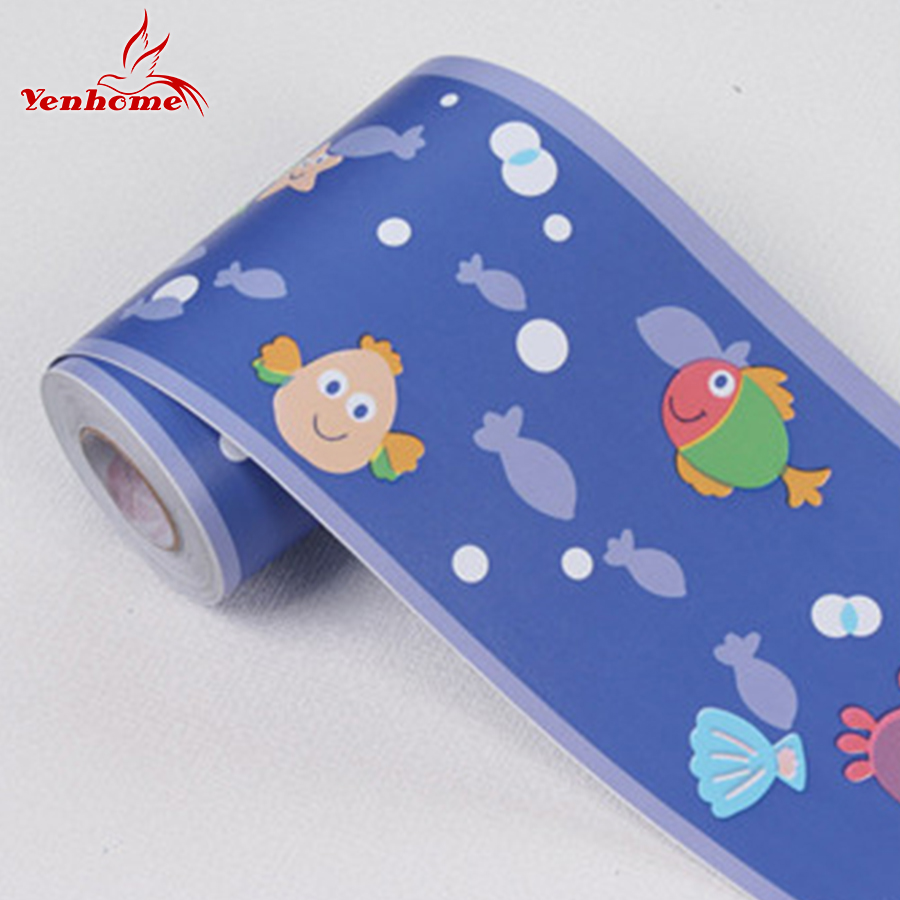 Us 10 38 48 Off 10m Lot Cartoon Pvc Self Adhesive Wallpaper Border For Kids Room Home Decor Wall Borders Decals Vinyl Waterproof Wall Stickers In