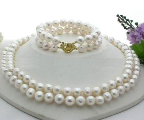11-12MM NATURAL SOUTH SEA GENUINE WHITE PEARL NECKLACE 1819 BRACELET 7.5-8inch^^^@^Noble style Natural Fi11-12MM NATURAL SOUTH SEA GENUINE WHITE PEARL NECKLACE 1819 BRACELET 7.5-8inch^^^@^Noble style Natural Fi
