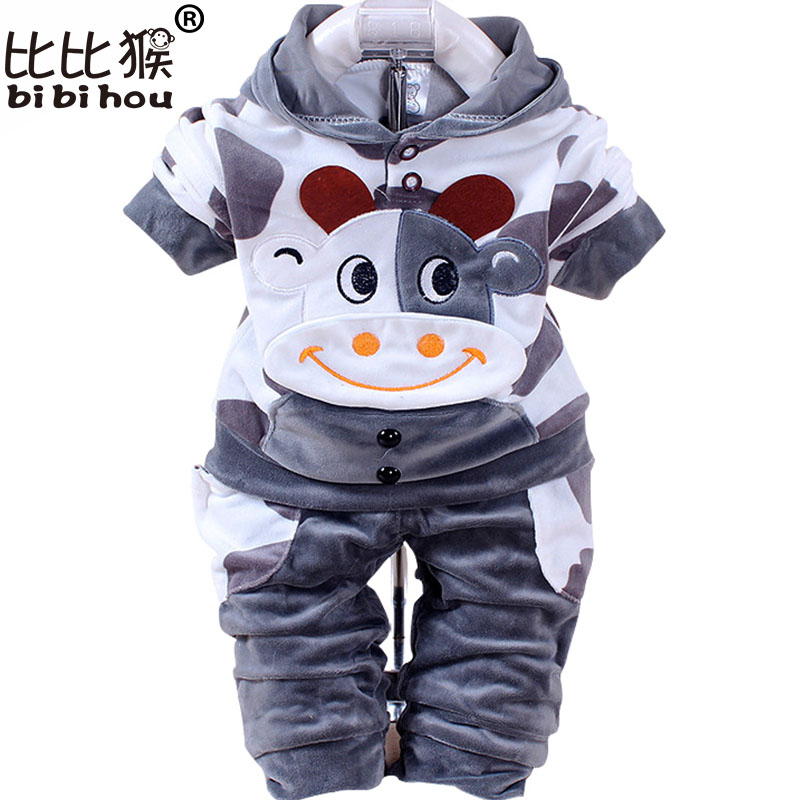New Boys baby Girls Clothing Set Fleece Sport newborn Clothes Suit Cow Long Sleeve toddler tracksuit Cotton children boy Clothes children clothing set long sleeve kids clothes boy clothes family clothing vetement garcon tracksuit 9a5207