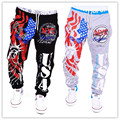summer plus size HIP-HOP pencil flag digital print pantalon jog homme mens cotton pants casual fashion free shipping