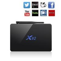 Original X92 Smart TV Box Android 6 0 2GB 16GB Genuine Amlogic S912 OCTA Core