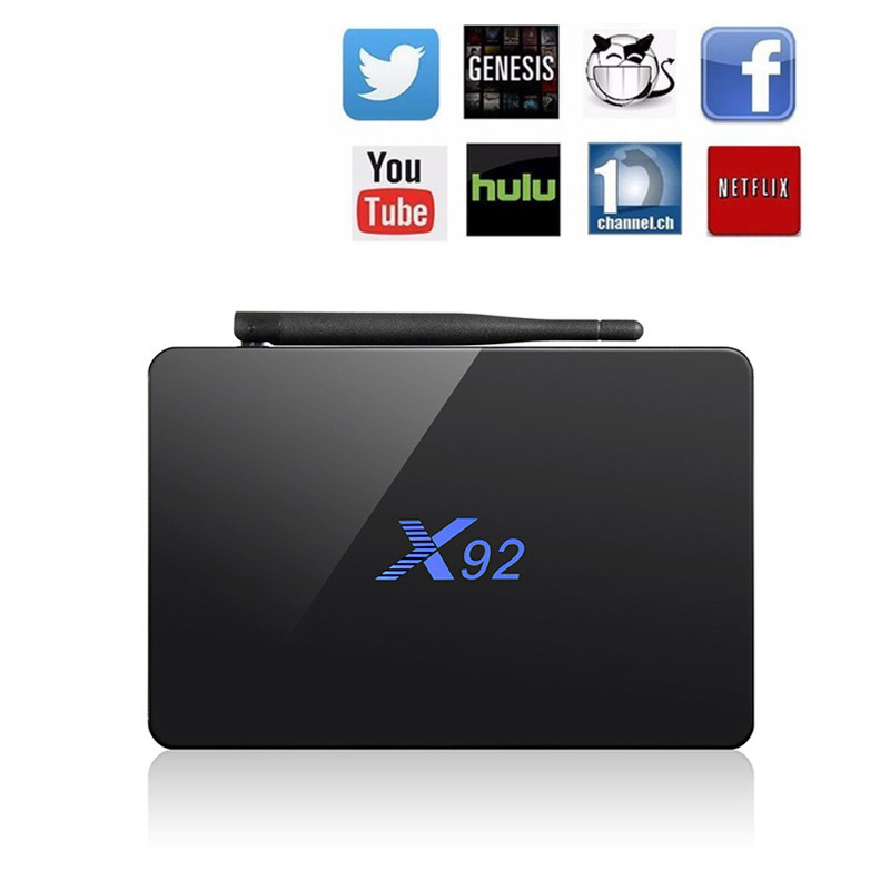 [Original] X92 Smart TV Box Android 6.0 2GB/16GB Genuine Amlogic S912 OCTA Core CPU 5G Wifi 4K H.265 X92 USB Smart Set-top Box