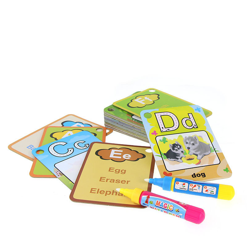 Water-Drawing-Card-26-English-Learning-Card-Magic-with-2-Pen-Letter-Card-Painting-Board-Educational-Toys-for-Kids-3
