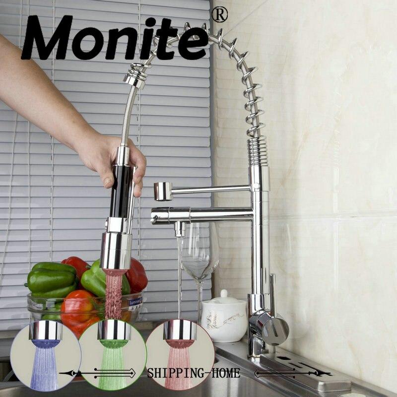 Modern Kitchen Faucets Sink Pull Down Spray8525 6 1 Basin Mixer Brass Tap Vessel Vanity Deck