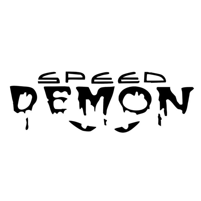 12 7cm4m speed demon fashion vinyl decor car stickers decals s4 0806