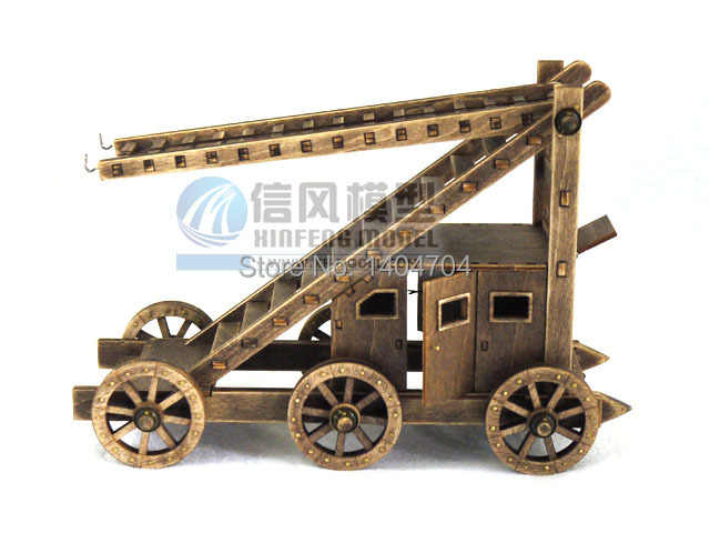 Scale 1:72 classic ancient War machines wooden model kit Age of Empires Aerial Ladder DIY toys 1set