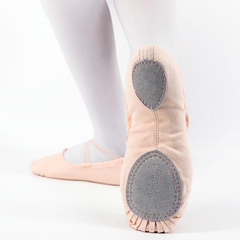 Professional Ballet Dance Shoes Canvas Ballet Slippers Girls Women Ballerina Ballet Flats Dance Shoes in Dance shoes from Sports Entertainment