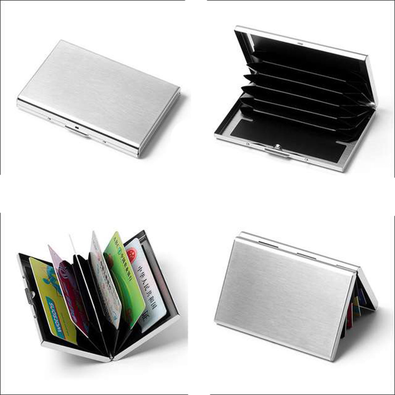 New Arrival High Grade Stainless Steel Credit Card Holder Men And Women Metal Bank Card Case
