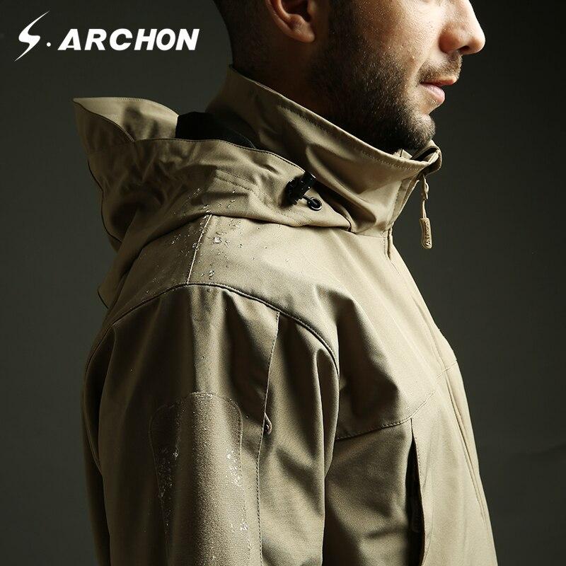 S. archon tactique léger doux Shell militaire veste hommes imperméable à capuche coupe-vent vêtements Militar armée veste