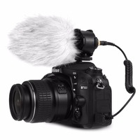 Condenser Mic Professional Microphone Stereo with Shock Mount for DSLR camera Camcorders Audio recorders