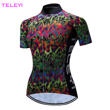 TELEYI Colorida de Las Mujeres Ciclismo Jersey Ciclismo Deportes Al Aire Libre de Secado rápido XS-4XL
