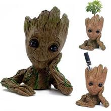 Tree Man Baby Action Figure Doll Phoneholder Guardians of The Galaxy 2 Model Pen Pot and Flower Pot Toy(China)