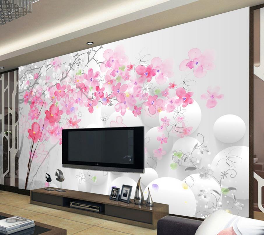 3d Customized Wallpaper Custom 3d Wallpaper Flower Fashion Background Wall Flower Wallpaper Mural 3d Wallpaper