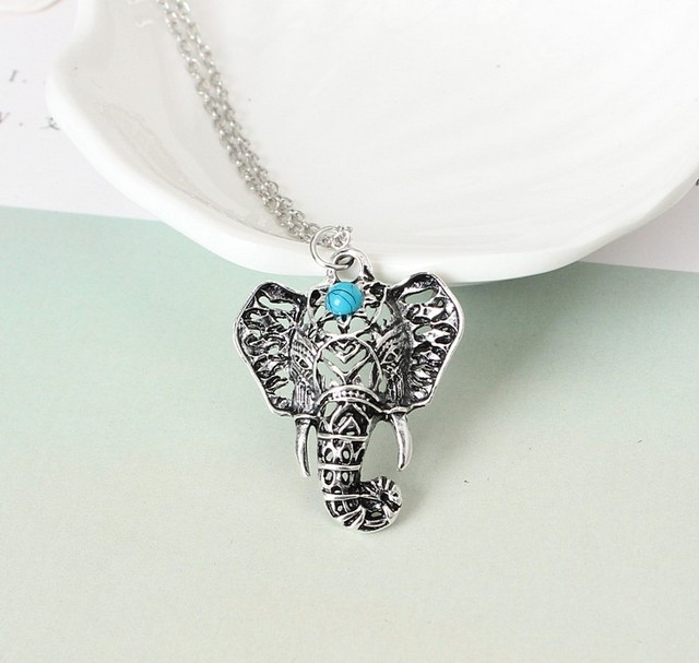 New Elephant Choker Necklace for Women/Girls silver Color Initial Pendant Thin Chain Jewelry Alfabet Gift