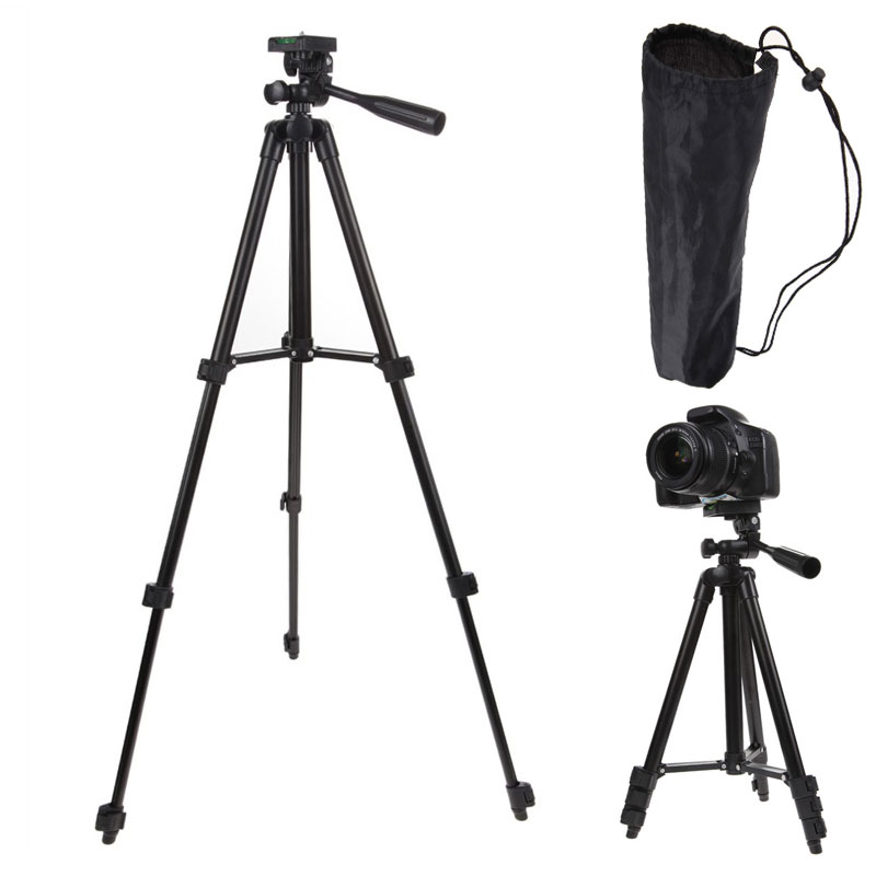 Professional Flexible Tripod Portable Aluminum Pan Tilt Head Mount Camcorder Digital Video Statief Travel Tripod For Camera