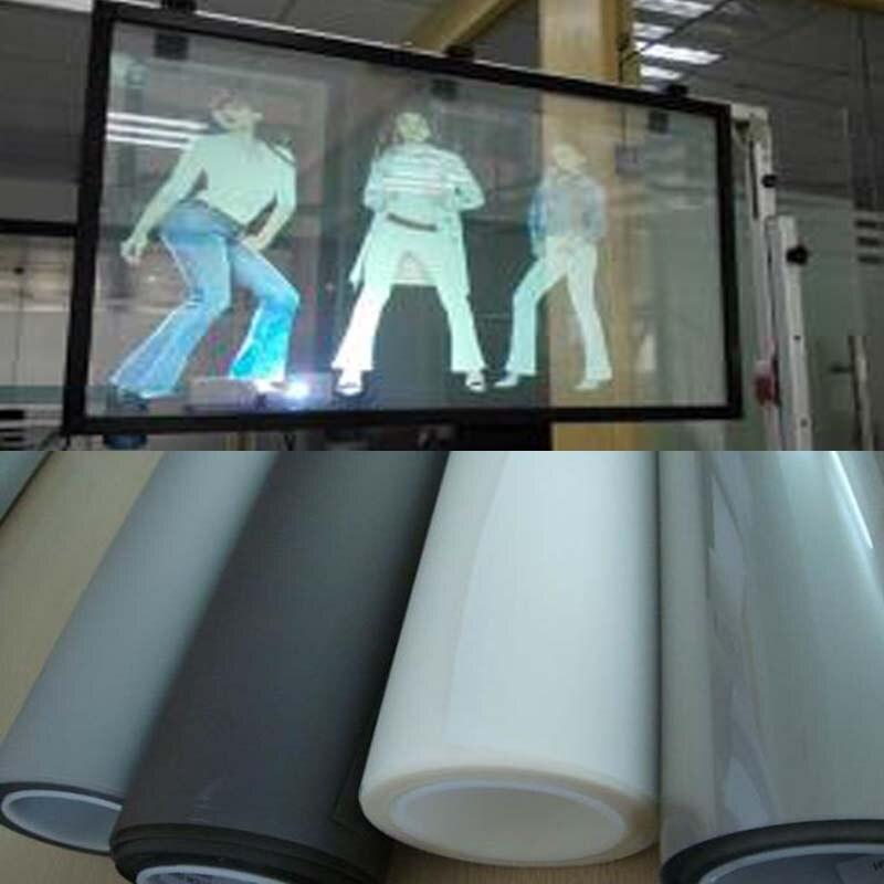 1.52x2 M Haut Grade Publicité Holographique Arrière Film Adhésif De Projection 3D Écran Film pour L'affichage Vitrine Exposition