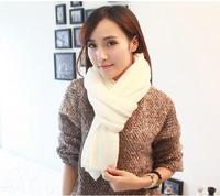 0BK Women Long Shawl Imitation Cashmere Scarf Lady Scarves Fashion Pure Color Knit Warmly Neck Scarf