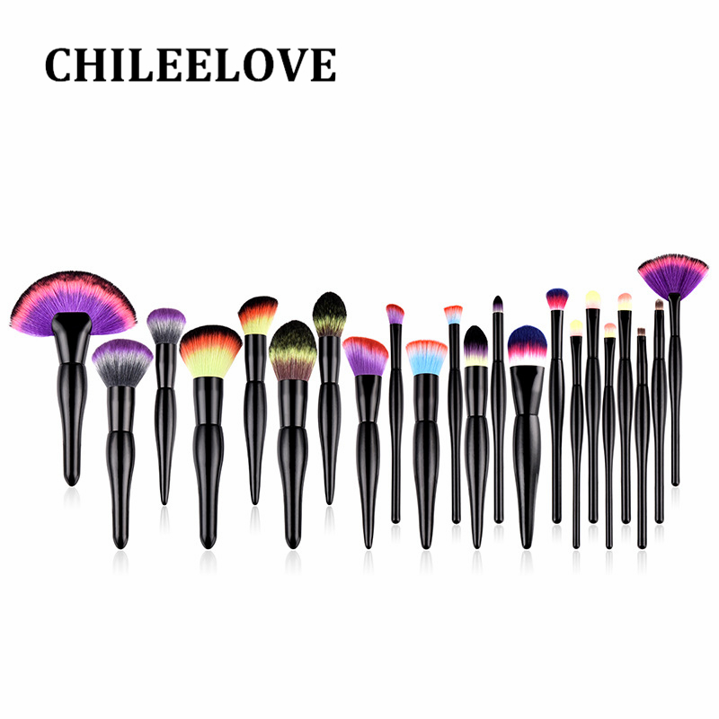 CHILEELOVE 22 Pcs High Quality Colorful Makeup Brushes Kit Beauty Cosmetic Tool For Loose Powder Foundation Eye Shadow Make Up 1000g 98% fish collagen powder high purity for functional food