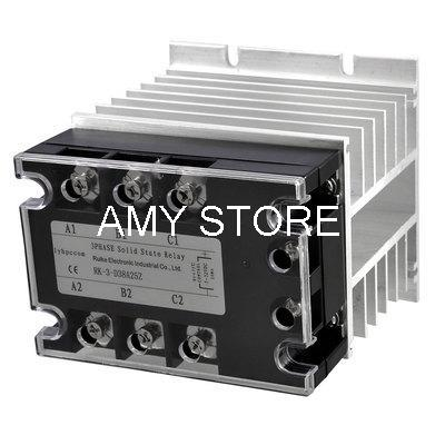 DC-AC 25A 5-32VDC/ 380VAC Three Phase SSR Solid State Relay w Aluminum Heat Sink цена 2017