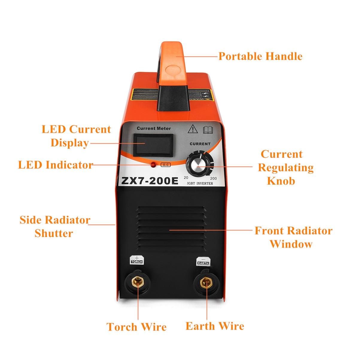 FORGELO ZX7-200E spawacz inwerter AC 110 V/220 V IGBT spawanie mma LED wyświetlacz Arc spawacze 20-140A dla domu początkujący duża sprzedaż