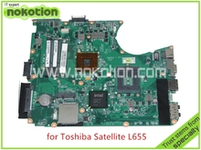 Mainboard A000078940 DA0BL8MB6B0 REV B For toshiba satellite L655 laptop motherboard intel GL40 HD graphics DDR3