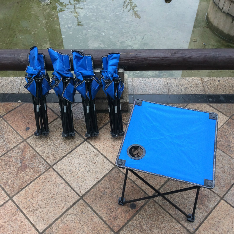 Outdoor Chair and Table Portable Folding Tables and Chairs Camping Folding Tables and Chairs Set Outdoor Furniture