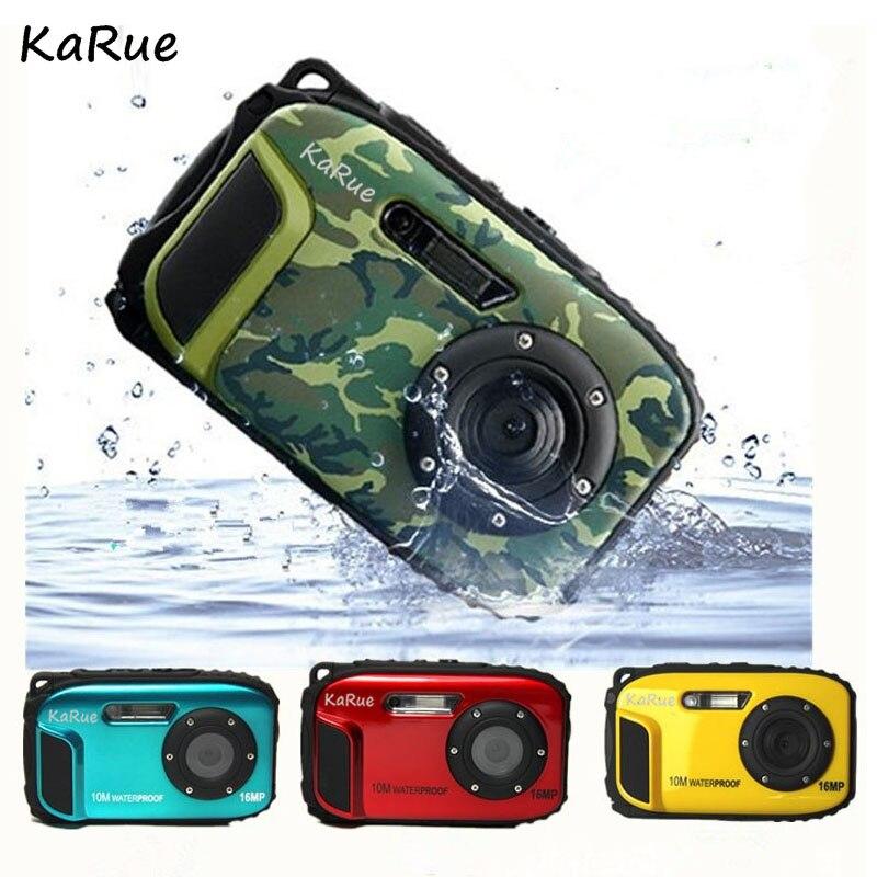 Appareil photo numérique étanche Karue 10 M Portable 16MP HD 8X Zoom numérique 1280*720 HD appareil photo numérique pour l'extérieur 2.7