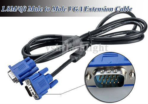 Lot of 10 Brand New VGA SVGA Monitor CablesMale to Male 15 Pin