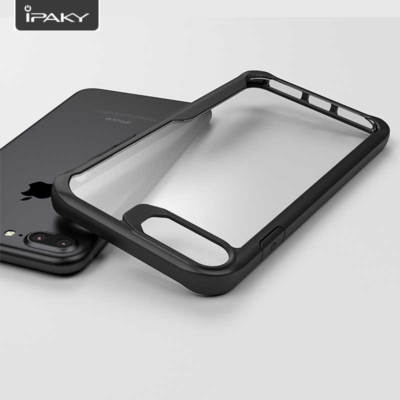 IPAKY Heavy Duty Clear Case For iPhone 7 and 7 Plus Flexible Bumper Transparent Back Case Cover For iPhone 7 Plus Crystal Case