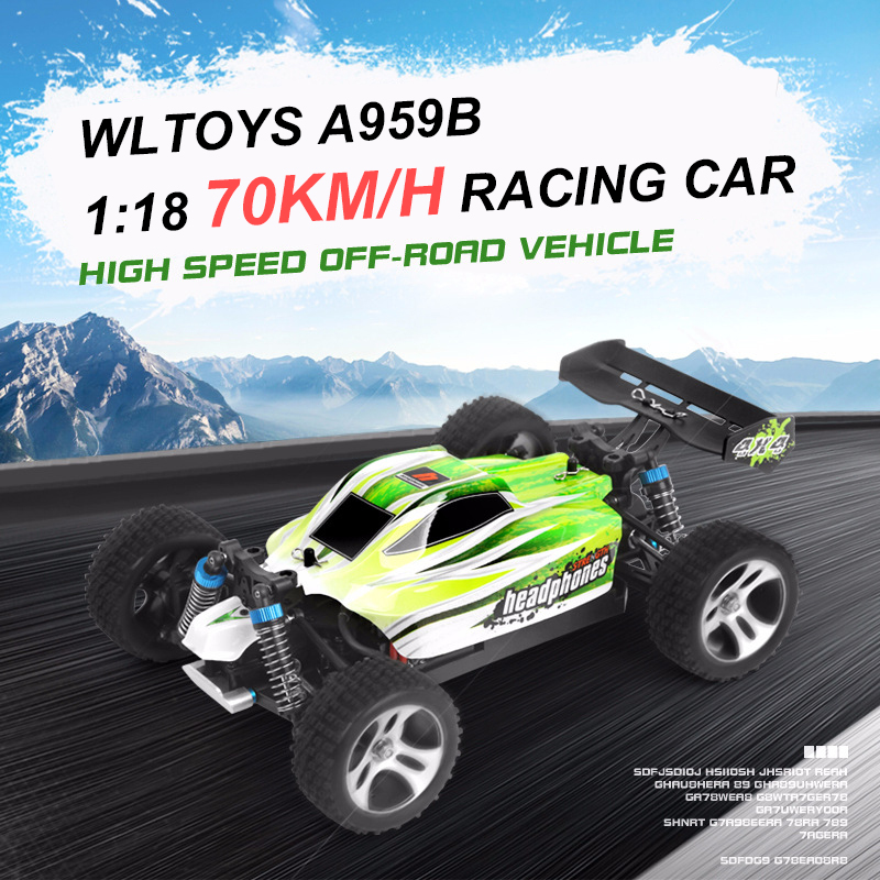 Wltoys A959B 1:18 RC Car 2.4G 4WD 70KM/H High Speed RC Drift Car Remote Control Car Radio Control RC Buggy Voiture Telecommande large rc car 1 10 high speed racing car for nissan gtr championship 2 4g 4wd radio control sport drift racing electronic toy